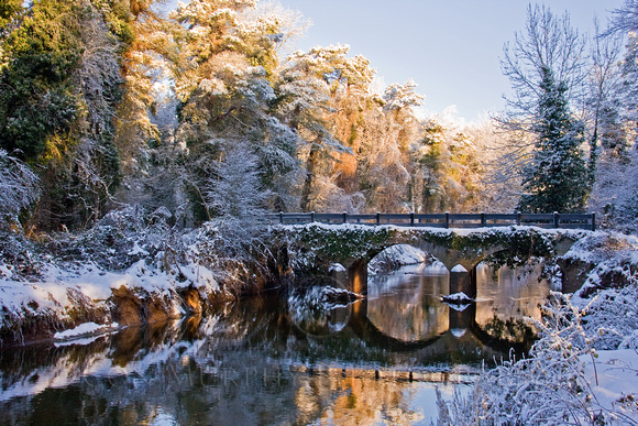 Garryhinch Bridge In The Snow